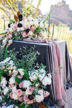 Featured Photographer Andrea Elizabeth Photography Wedding Centerpiece Idea Mod Purple