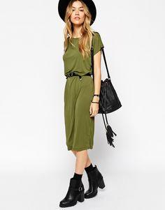 ASOS+Bodycon+Midi+Dress+with+Drape