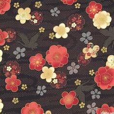 Japanese Import - Celebration - Blossom River-Quilt Fabrics from www.eQuilter.com