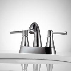 Rondo Centerset Bathroom Faucet - No Overflow - Chrome