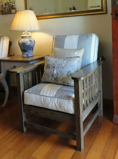 Solid oak morris chair | Chelsea and Home Country Furniture, Funky Furniture, Morris Chair, Town And Country, Solid Oak, Chelsea, Armchair, Home Decor, Rustic Furniture