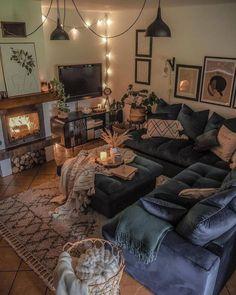 Comfy And Cozy Space By Tatiana_home_decor Boho Living Room, Cozy Living Rooms, Apartment Living, Home And Living, Living Room Decor Curtains, Nordic Living Room, Bohemian Living, Appartement Design, Decoration Inspiration