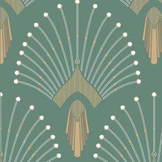 0669 - vert clair home: walls & ceilings pattern wallpaper, washable wa Art Deco Artwork, Art Deco Paintings, Art Deco Wallpaper, Pattern Wallpaper, Pink Wallpaper, Motif Art Deco, Art Deco Pattern, Art Deco Design, Tattoos Motive