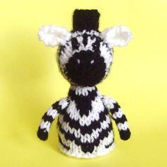 Zebra Toy Knitting Pattern PDF by Jellybum on Etsy, $3.50
