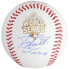 Kansas City Royals Mike Moustakas Fanatics Authentic 2015 MLB World Series Champions Autographed World Series Baseball with 15 WS Champs Inscription | MLBShop.com