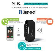 I5 Plus Smart Bracelet Watch Bluetooth 4.0 Waterproof Fitness Tracker Wristband -- BuyinCoins.com