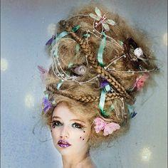 Love this whimsical hair! #hair #hautecouture #editorial #fashion #mua #makeup