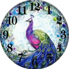 Diamond Embroidery Peacock Clock Diamond Painting Cross Stitch Picture Of Rhinestones Full Square Diamond Mosaic Kits Home Crafts, Arts And Crafts, Mosaic Kits, Cross Stitch Pictures, Diy Clock, 5d Diamond Painting, Cross Paintings, Diy Painting, Sewing Crafts