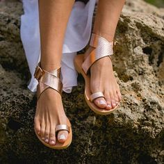 b15ff89633c24 Thong Pure Color Ankle Strap Women Beach Flat Sandals  onlineshopping   fashion  girls
