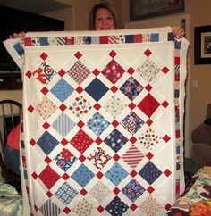 I love Red, White & Blue quilts.