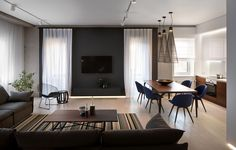 Here are list of the awesome minimalist apartment designs ever presented on sweet house. Find inspiration for Minimalist Apartment Design to add to your own home. Minimalist Apartment, Minimalist Living, Minimalist Bedroom, Minimalist Decor, Minimalist Style, Zeitgenössisches Apartment, Apartment Interior Design, Apartment Ideas, Luxury Rooms