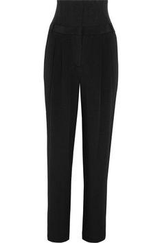 黑色真丝,黑色网布   正面配有单颗钩扣和隐形拉链   100% 真丝;边饰材质:90% 聚酰胺,10% 聚氨酯   干洗