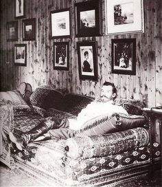 Tsar Nicolas II in a rare picture showing him relaxing .
