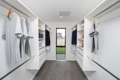 Do you dream of having a spacious walk-in wardrobe like this chic, envy-inducing storage zone in your bedroom? #walkinwardrobe #wardrobe #storage #riverheadshowhome #showhome #coatesvilleplan #generationhomesnz 4 Bedroom House Plans, Home Bedroom, Bedrooms, Walk In Robe, Walk In Wardrobe, Wardrobe Storage, Wardrobes, Envy, How To Plan