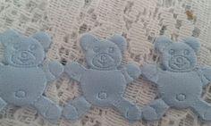 Fita decorativa ursinhos azul