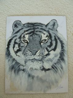 Painting: Tiger in metallic oil