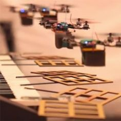 """@NOTCOT The """"James Bond Theme"""" Performed By Flying Robot Quadrotor Robots by Daniel Mellinger and Alex Kushleyev from Penn's School of Engineering and Applied Science. http://www.youtube.com/watch?feature=player_embedded=_sUeGC-8dyk"""