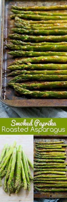 Only 5 ingredients needed for this delicious and healthy Smoked Paprika Roasted Asparagus side dish recipe! 47 calories and 1 Weight Watchers SmartPoint Vegetable Sides, Vegetable Side Dishes, Vegetable Recipes, Healthy Diet Recipes, Cooking Recipes, Smoker Recipes, Healthy Asparagus Recipes, Healthy Eating, Vegan Meals