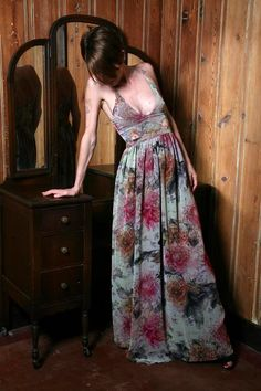 Silk Charmeuse Full-Length Dress by DawnSharp on Etsy