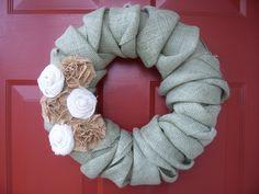 Twisted Burlap Wreath.