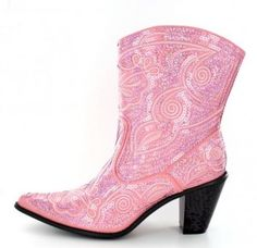 Pink Quinceanera Bling Boots