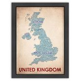 Found it at AllModern - Typography Maps United Kingdom Poster