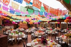 Mexican+Wedding+Centerpieces | already showed you earlier in the week that I wanted to use papel ...