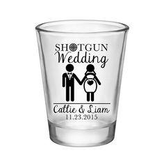 100x Shotgun Wedding Custom Wedding Shot Glasses by #BartenderWorks on #Etsy. Perfect Wedding Mementos to Remember Your Special Day! #Weddings #WeddingParty #WeddingFavors #Bride #Groom #Shotgun #ShotgunWedding #SickkJunctions