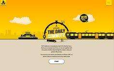 Hverdagsreisen #webdesign #inspiration #UI #HTML5 #Colorful #Design #Yellow
