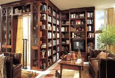A lovely home library #literarydecor                                                                                                                                                                                 More