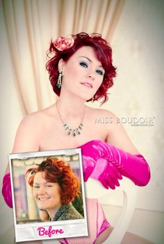 Vintage boudoir photography and makeover portraits by Miss Boudoir®. Styling by http://www.daniellehoranmakeup.co.uk