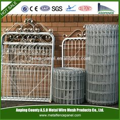 Ornamental loop fence, decorative woven wire fencing, galvanized ...