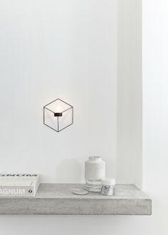 PYNT grey lighting geometric concrete ceramic book