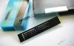 tarjetas de presentacion transparentes de diseño grafico