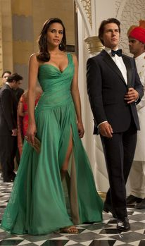 Paula Patton gown from Mission Impossible