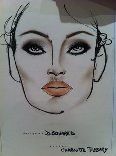 Runway Makeup- Dsquared