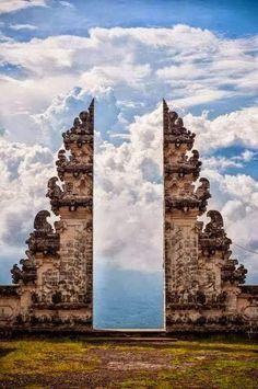 ^Pura Lempuyang Door in Bali, Indonesia