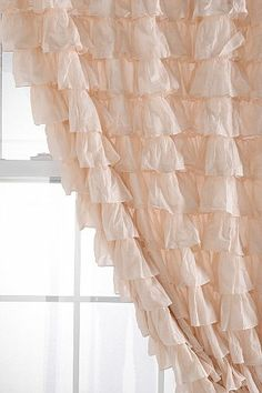 cute pink curtains for the shabby chic bedroom I've got planned Cortinas Shabby Chic, Rideaux Shabby Chic, My New Room, My Room, Pink Ruffle Curtains, Ruffles, Blush Curtains, Girl Nursery, Girls Bedroom
