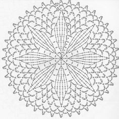 This Pin was discovered by สุนิ Motif Mandala Crochet, Free Crochet Doily Patterns, Crochet Symbols, Crochet Circles, Crochet Motifs, Freeform Crochet, Crochet Diagram, Crochet Round, Crochet Chart
