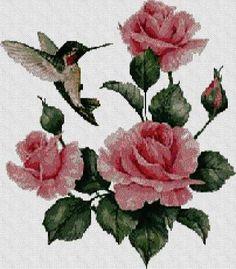 Patrones de flores en punto de cruz - Imagui