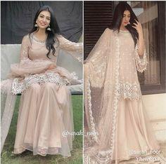 Pinterest: @namchaz 🇳🇵 Pakistani Fashion Party Wear, Pakistani Wedding Outfits, Pakistani Dresses Casual, Pakistani Wedding Dresses, Pakistani Dress Design, Shadi Dresses, Eid Dresses, Bridal Mehndi Dresses, Stylish Dresses For Girls