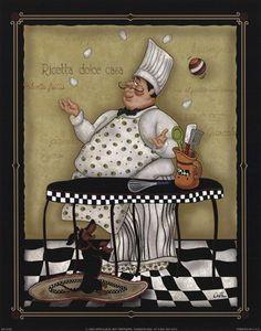 Juggling Chef by Dena Marie art print