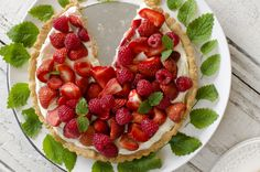 Strawberry and rasberry cake