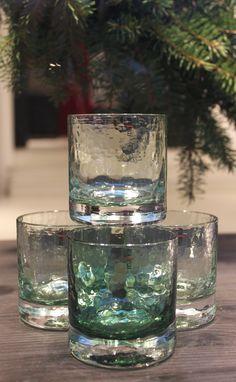 "Talvilasi ""Winter glass"" by Mafka / glass artist, glassblower Marja Hepo-aho. Glass Design, Design Art, Marimekko, Winter Season, Finland, Shot Glass, Typography, Seasons, Dishes"