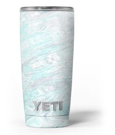 Teal Slate Marble Surface V39 Yeti Rambler Skin Kit from DesignSkinz