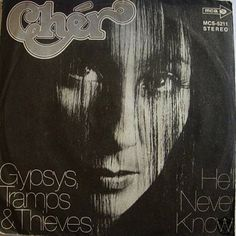 November 6, 1971 - Cher started a two week run at No.1 on the US singles chart with 'Gypsys, Tramps and Thieves', the singers first US solo No.1 •• #cher #thisdayinmusic #1970s