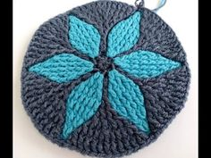 Новая техника вязания Крючком рисунка по кругу рельефными столбиками - YouTube Crochet Tablecloth, Crochet Doilies, Tapestry Crochet, Crotchet, Knitted Hats, Mandala, Beanie, Shapes, Dolls