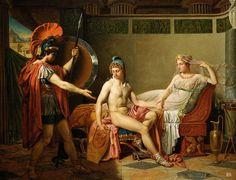 Hector reproaches Paris. 1820.  Benjamin West. Anglo-American. 1738-1820.