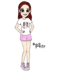 I have taken some time to draw a little person, she has made a t-shirt with some of my drawings! How cute! @andycarly via Instagram, I missed making #nadadeperfectas personalizaciones! And I'll be back on vacation! Would you like to have a drawing...
