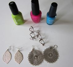 Nail Polish Painted Earrings - Second Chance To Dream